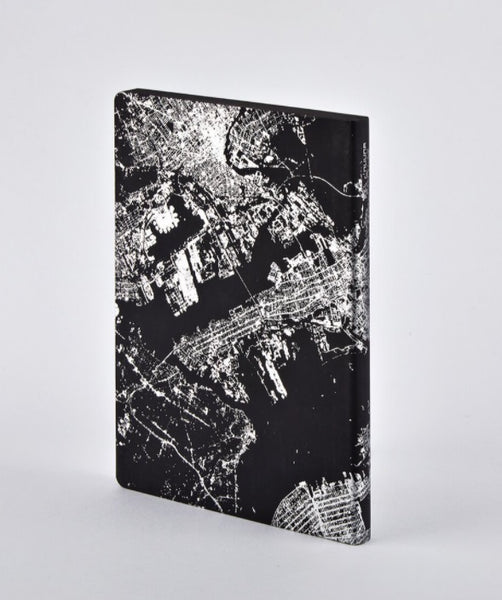 Nuuna Notebook Nightflight L Light  NYC SILVER 53634
