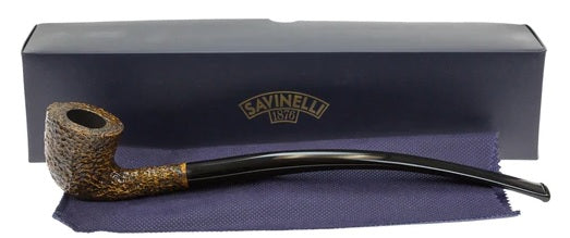 Savinelli Churchwarden Pipe Brownblast (921)