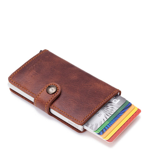 SECRID - Miniwallet brown vintage