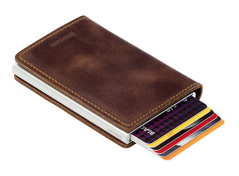 SECRID - Slimwallet brown vint