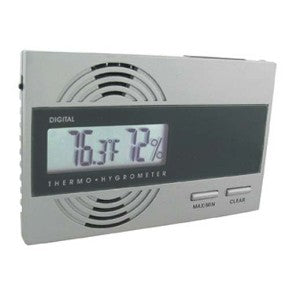 Slim Silver Digital Hygrometer