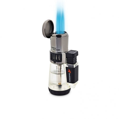 Firebird Afterburner Triple Flame Torch Lighter Clear Color