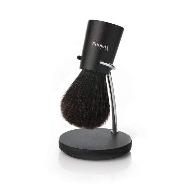 Vie-Long Nordik Set Black Horse Hair Shaving Brush with Stand