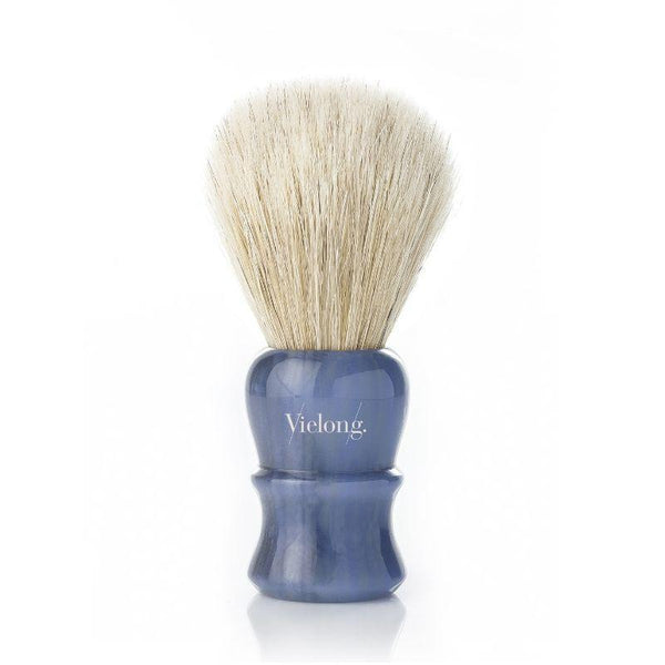 Vie-Long Vintage Quart Horse Hair Shaving Brush Blue Wood Handle