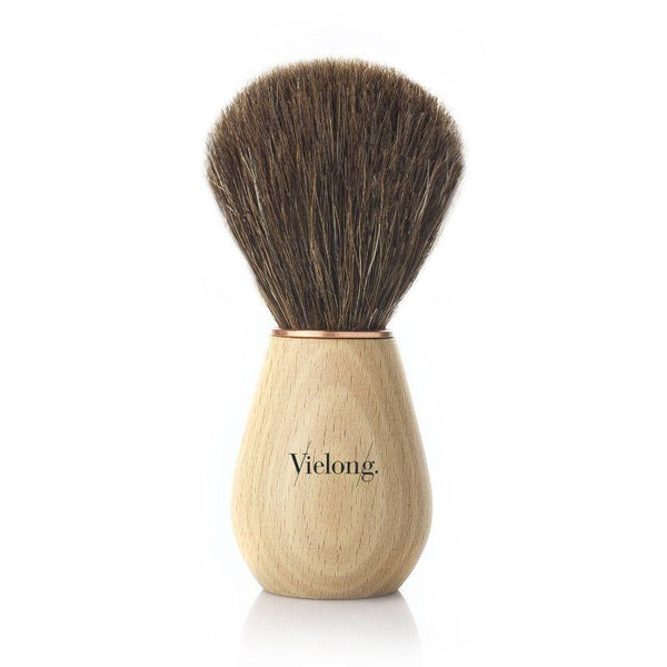 Vie-Long Wave Horse Hair Shaving Brush, Wood Handle