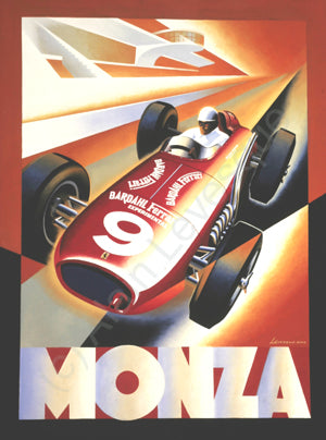 Alain Levesque Limited Edition Signed Poster Ferrari Monza