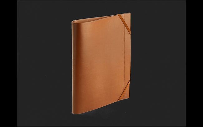 Caran D'ache Beige LEATHER A4 Folder