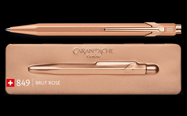 Caran D'Ache 849 BRUT ROSÉ Ballpoint Pen, with Holder