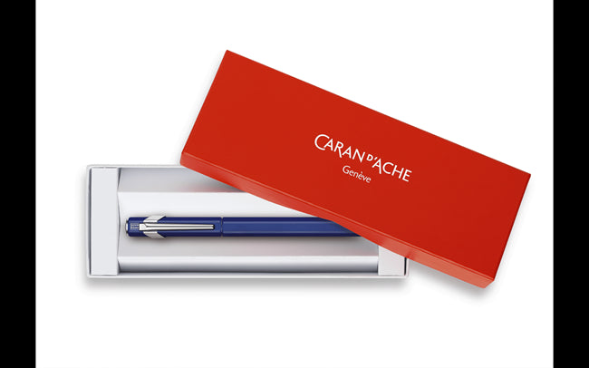 Caran D'Ache Fountain Pen 849 Metal Blue
