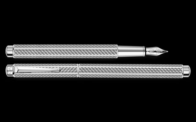 Caran D'ache Palladium-Coated ECRIDOR CUBRIK Fountain Pen