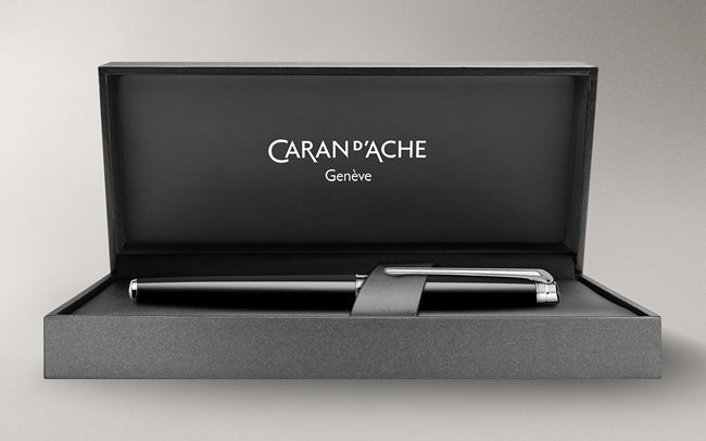 Caran D'ache Black Ebony LÉMAN SLIM Fountain Pen
