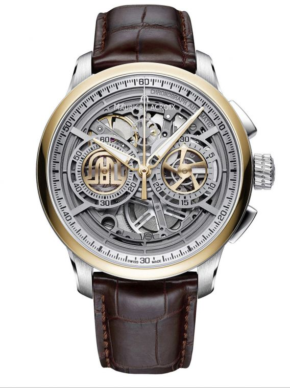 MAURICE LACROIX MASTERPIECE Automatic Chronograph Skeleton 45mm MP6028-PS101-001-1