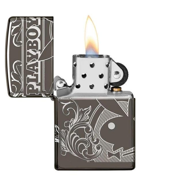 Zippo Playboy Black Ice Pocket Lighter 49085
