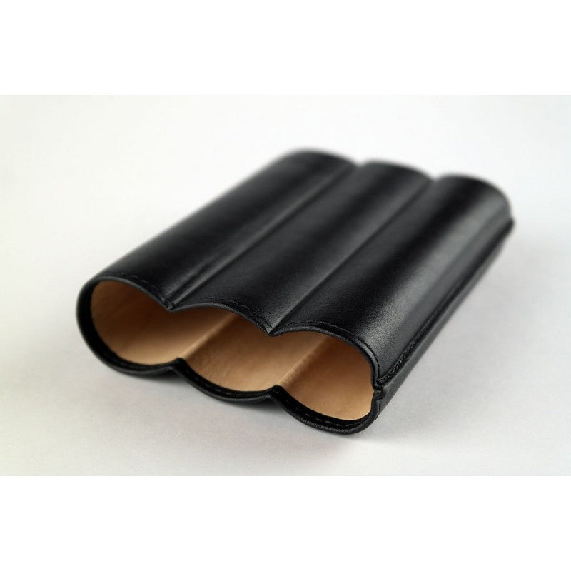 Habanos Leather Pouch (3 Cigars) Black- HG9.00317