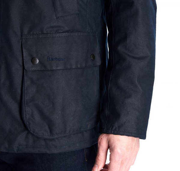 Barbour Brandreth Waxed Cotton Jacket (Navy)