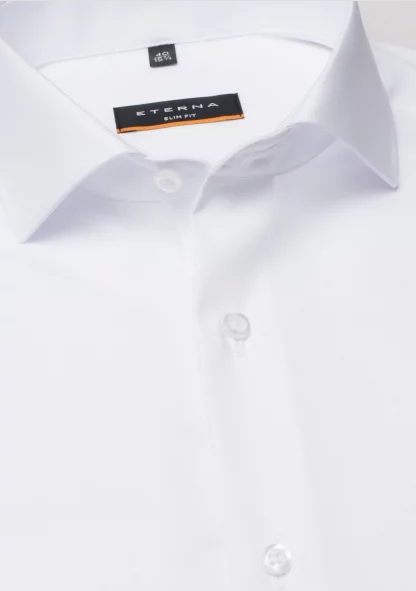 Eterna Slim Fit Non-Iron Shirt White