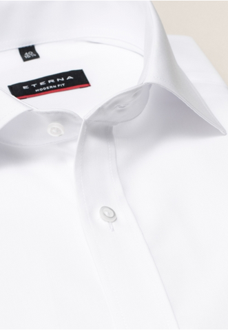 Eterna Modern Fit Non-Iron Shirt White