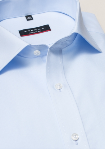 Eterna Modern Fit Non-Iron Shirt Light Blue
