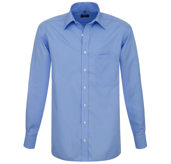 Eterna Comfort Fit Shirt Medium Blue