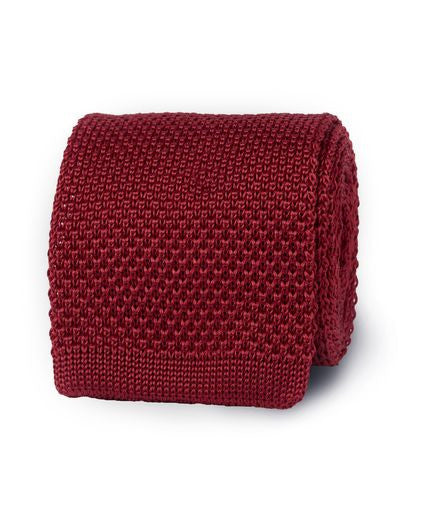 Bogart Exclusive Knitted Tie - Burgundy