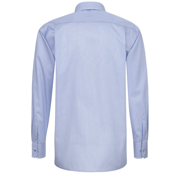 Eterna Comfort Fit Stripe Shirt Mid Blue