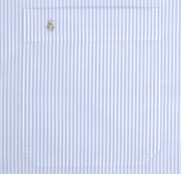 Eterna Comfort Fit Striped Shirt Light Blue