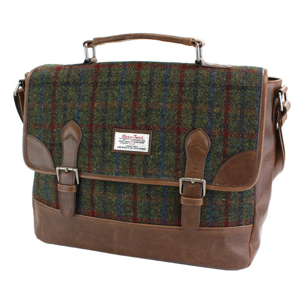 Harris Tweed - Laptop Bag - Green