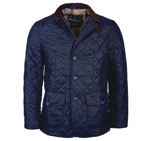 Barbour Sander Quilted Jacket (Navy)