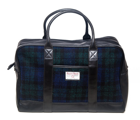 Harris Tweed Holdall Bag - Navy Check