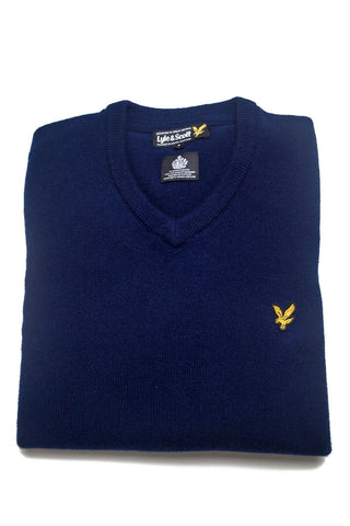 Lyle & Scott - Knitwear - Blue - V Neck