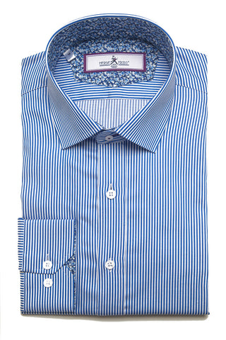 Herbie Frogg - Slim Fit Shirt - Blue striped