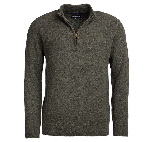 Barbour Tisbury Half Zip Sweater Seaweed