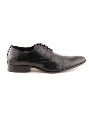 Remus Uomo Derby Leather Shoe - Black