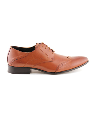 Remus Uomo Derby Leather Shoe - Tan