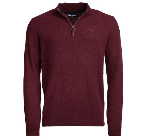 Barbour Tisbury Half Zip Sweater Ruby