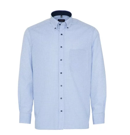 Eterna Comfort Fit Shirt Blue/White Check
