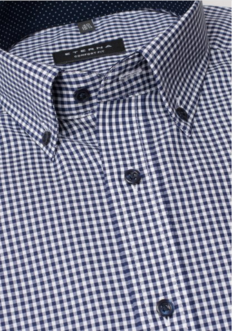 Eterna Comfort Fit Shirt Navy/White Check