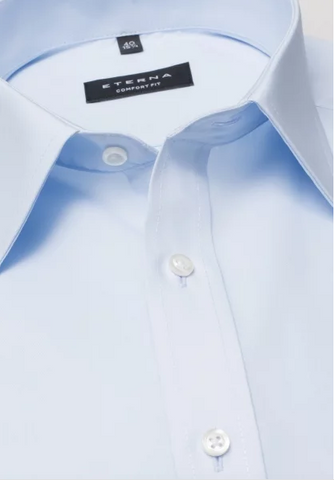 Eterna Comfort Fit Shirt Light Blue