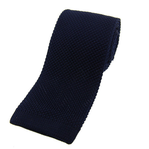 Bogart Exclusive Knitted Tie - Navy