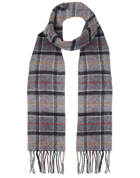 Barbour Lambswool Scarf Grey Check