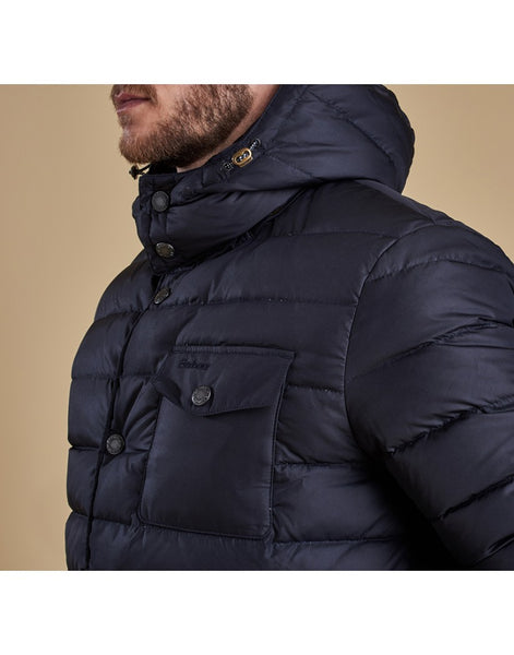 Barbour Cowl Quilted Jacket (Navy)