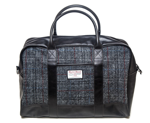 Harris Tweed Holdall Bag - Mid Grey