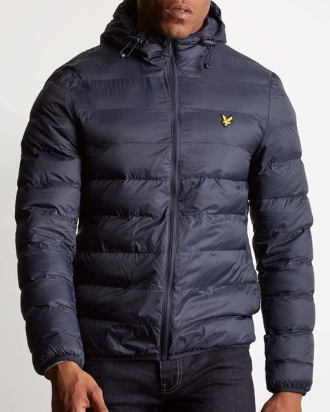 Lyle & Scott Hooded Puffer Jacket - Navy
