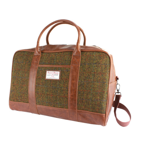 Harris Tweed Holdall Bag - Tan