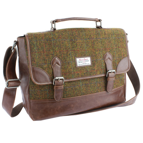 Harris Tweed - Laptop Bag - Tan