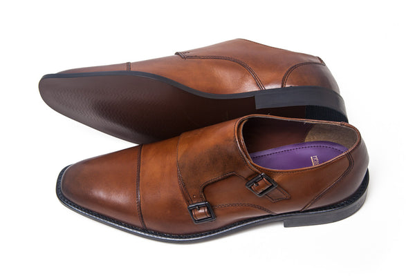 Herbie Frogg - Double Monk - (Cognac/Tan)