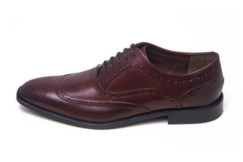 Herbie Frogg - Chisel Toe Brogue - (Burgundy/Oxblood)