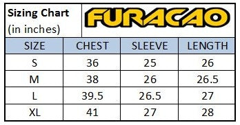 Furacao Rash Guard Sizing Chart