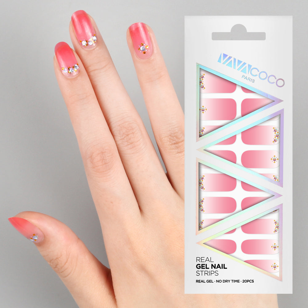 Gel Nail Stickers - Pink Aurora