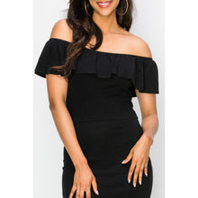 "Load image into Gallery viewer, ""Date Night"" Off-Shoulder Knit Top"